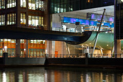 Dockland Light Railway in Canary Wharf. Royalty Free Stock Photography