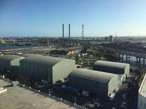 Docklands στην πόλη της Μελβούρνης Στοκ Φωτογραφίες