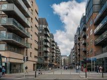 Docklands στον ποταμό Liffey στο Δουβλίνο Στοκ εικόνες με δικαίωμα ελεύθερης χρήσης