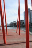 Docklands. A strange view of Docklands in Dublin Stock Photo