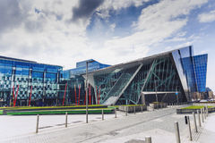 The Docklands area of Dublin featuring the Bord Gais Theatre Stock Image
