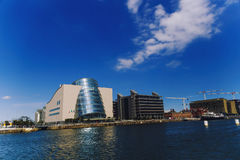 The Docklands area of Dublin featuring the Bord Gais Theatre Royalty Free Stock Photo