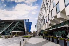 The Docklands area of Dublin featuring the Bord Gais Theatre Stock Photos