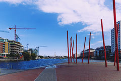 The Docklands area of Dublin featuring the Bord Gais Theatre Stock Photo