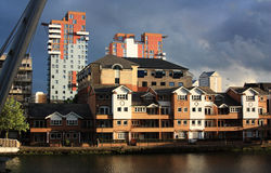 Docklands buildings in London Stock Photo