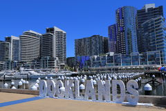 Docklands cityscape Melbourne Stock Image