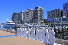 Docklands cityscape Melbourne Royalty Free Stock Photo