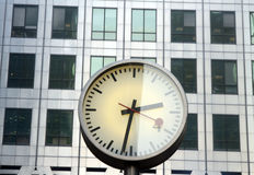 Docklands clocks Stock Images