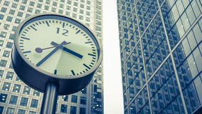 Docklands clocks, London Royalty Free Stock Images