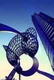 Docklands de la aurora Foto de archivo