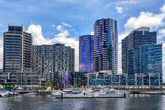 Docklands en Melbourne imagen de archivo