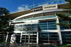 Docklands Etihad Stadium - Melbourne. MELBOURNE - APR 14 2014:Etihad Stadium, a multi-purpose sports and entertainment stadium primarily used for Australian Royalty Free Stock Images