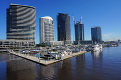 Docklands-Hafen in Melbourne Stockfotografie