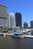Docklands Harbour Melbourne cityscape Royalty Free Stock Images