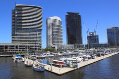 Docklands Harbour Melbourne cityscape Royalty Free Stock Photo