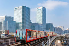 Docklands light railway in London Royalty Free Stock Photos