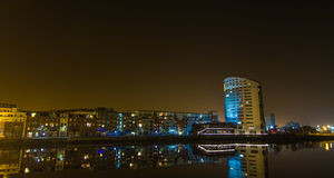 Docklands Limerick at night. Royalty Free Stock Image