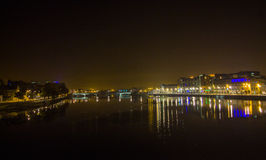 Docklands Limerick at night. Royalty Free Stock Photography