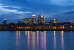 Docklands in Londen Stock Afbeelding