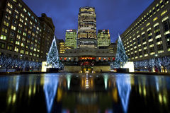 Docklands in London at Christmas Royalty Free Stock Photos