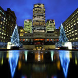 Docklands in London at Christmas Royalty Free Stock Images