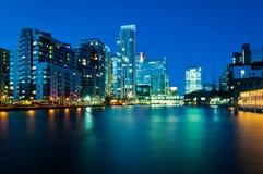 Docklands Londra Fotografia Stock Libera da Diritti