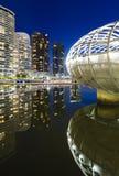 Docklands, Melbourne en la noche Imágenes de archivo libres de regalías