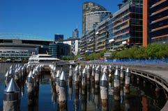 Docklands in Melbourne, Victoria, Australien Lizenzfreie Stockbilder