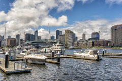 Docklands in Melbourne Stock Photo