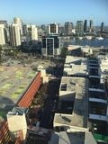 Docklands nella città di Melbourne Immagini Stock Libere da Diritti