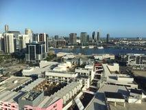 Docklands nella città di Melbourne Fotografia Stock Libera da Diritti