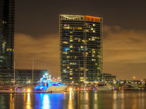 Docklands at night Royalty Free Stock Image