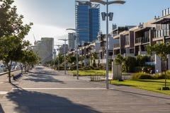 Docklands promenade Stock Photography