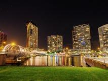 Docklands przy nocą Obrazy Stock