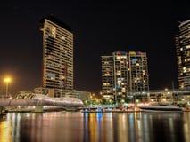 Docklands przy nocą Zdjęcie Stock