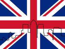 Docklands Skyline with Flag Stock Images