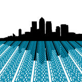 Docklands skyline with London. Text illustration Royalty Free Stock Photography