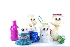 Dockor handgjorda leksaker Royaltyfria Foton