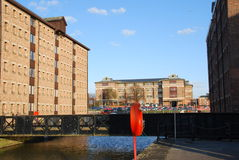 Docks. Beautiful Gloucester docks with typical warehouse buildings Royalty Free Stock Photos