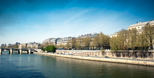 Docks along the Seine river - Paris - Fran Stock Photography