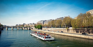 Docks along the Seine river - Paris - Fran Stock Photo