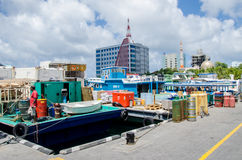 Docks area at Male Royalty Free Stock Images