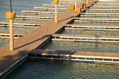 Docks on a bay Royalty Free Stock Photography