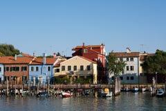 Docks of  Burano , Italy Stock Image