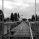 Docks dans Abhazia, la Géorgie Images libres de droits