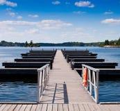 Docks de bateau Photos stock