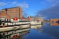 Docks de Gloucester images libres de droits