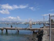 Docks de marina de lagune de Keehi Images stock