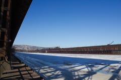 Docks de minerai de Duluth Minnesota photographie stock