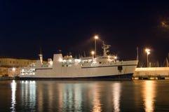 Docks de nuit Photographie stock libre de droits